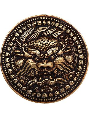 Tibetan Buddhist Kirtimukha Belt Buckle - Made in Nepal