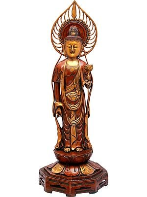 Large Size Kuan Yin, The Japanese Form Of Padmapani Avalokiteshvara