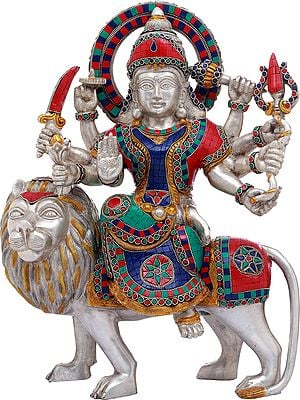 Ashtabhuja Simhavahini Durga, Her Ferocity Contained