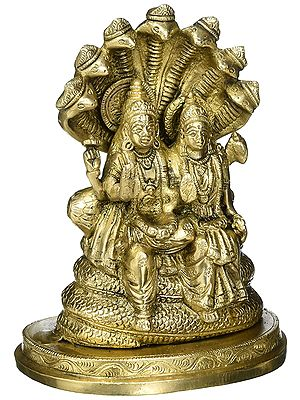 Vishnu-Lakshmi, Seated On Sheshnag