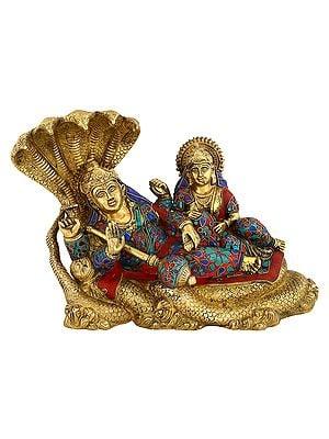 Lakshmi And Venkateshwara Brass Statue