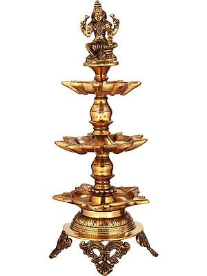Goddess Lakshmi Twenty Three Wicks Puja Lamp