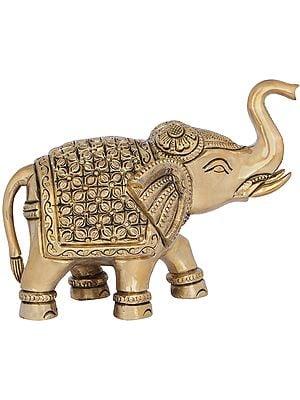 Elephant with Upraised Trunk (Auspicious Accroding to Vastu)