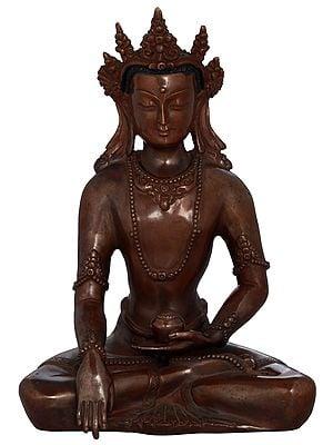 Tibetan Buddhist Lord Buddha in Bhumi-Sparsha Mudra - Made in Nepal
