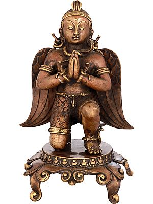 The Humble  Garuda on Pedestal - Made in Nepal