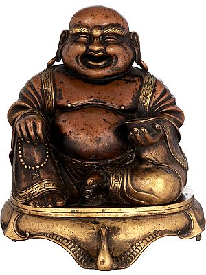 Laughing Buddha Incense Burner From Nepal (Tibetan Buddhist)