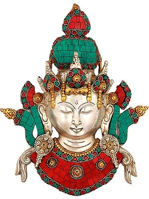 Tara Mask (Tibetan Buddhist Wall Hanging)