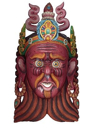 Nepalese Wrathful Deity Very Large Size Mask (Wall Hanging)