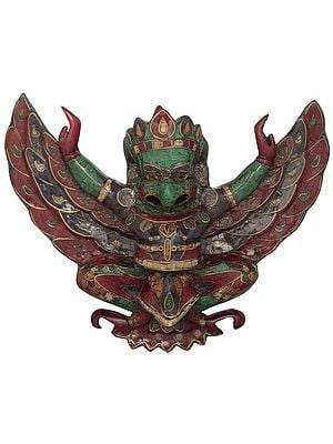Garuda with Wings Stretched Out (Wall Hanging with Inlay)