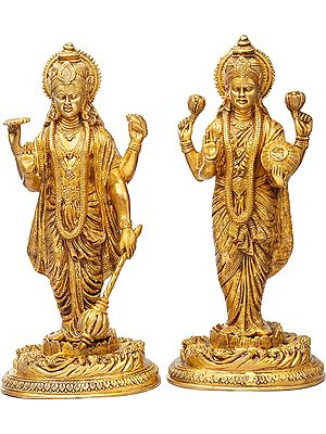 Lord Vishnu with Goddess Lakshmi