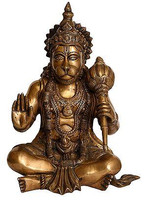 Lord Hanuman In Abhaya Mudra