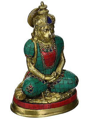 Lord Hanuman in meditaion mudra