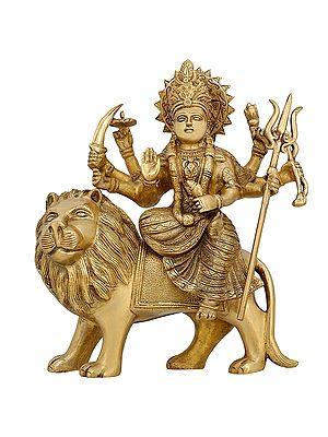 Ashtabhuja Durga On Her Leonine Steed