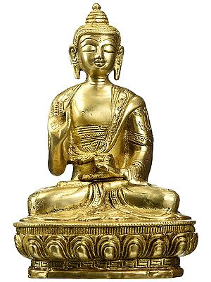 Gautam Buddha in Vitark Mudra - Tibetan Buddhist Deity (Preaching)