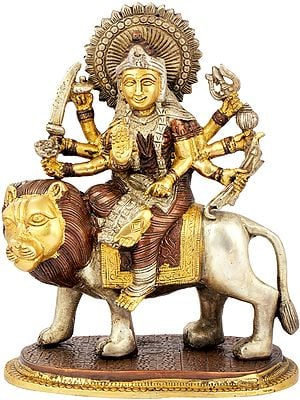 Hindu Goddess Durga Brass Statue