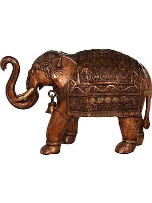 Large Size Superbly Decorated Elephant
