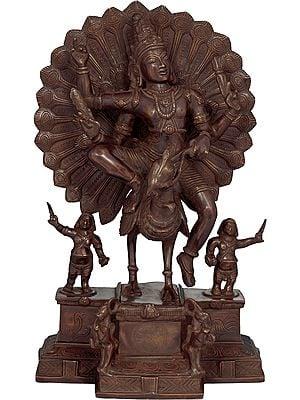 Karttikeya Riding On His Vahana Peacock