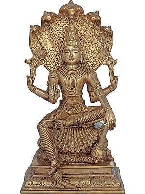 Lord Vishnu Seated on Sheshanaga