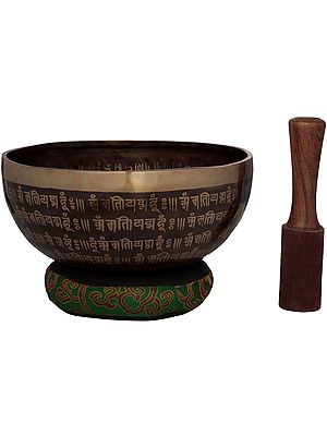 Tibetan Buddhist Vishwa-Vajra Bronze Singing Bowl