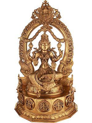 Superfine Goddess Lakshmi in Blessing Gesture