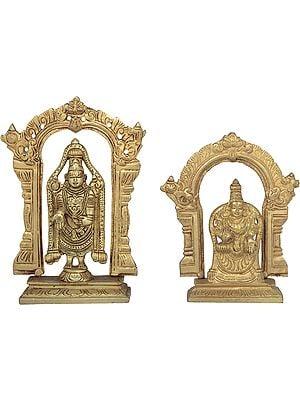Lord Venkateshwara with Goddess Padmavati