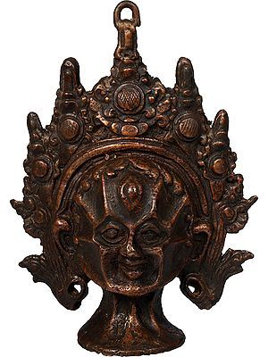 Chamunda Devi (Goddess Kali) Wall Hanging Mask From Nepal