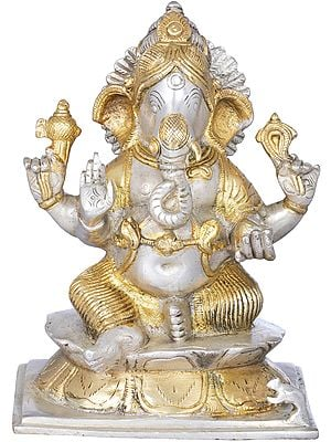 Lord Ganesha Granting Abhaya to Devotees