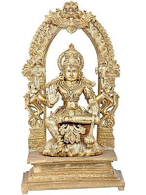 The Grace Of Seated Vishnu, Contained By The Aureole