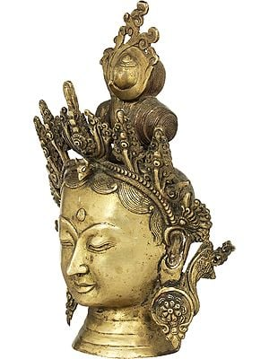 Tibetan Buddhist Goddess Tara Head - Made in Nepal