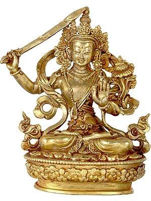 Tibetan Buddhist Deity Manjushri - Made in Nepal