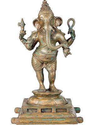 Standing Chaturbhujadhari Ganesha