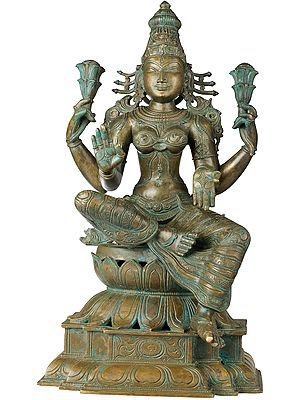 Kamalasana Chaturbhujadhari Lakshmi, Wife Of Vishnu, Devi Of Abundance