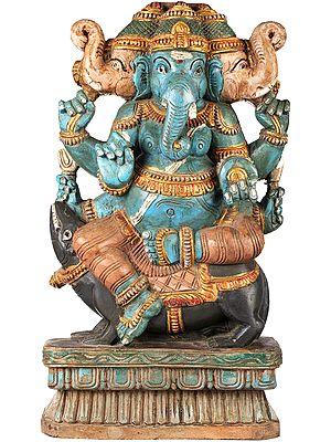 Trimukha Bhagawan Ganesha
