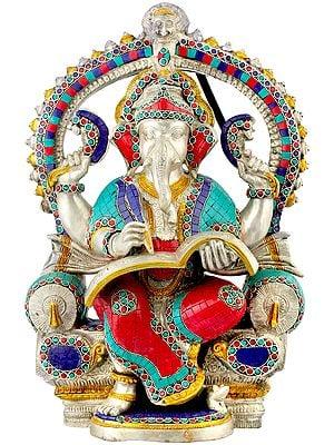 Raja Ganesha Writing The Mahabharata
