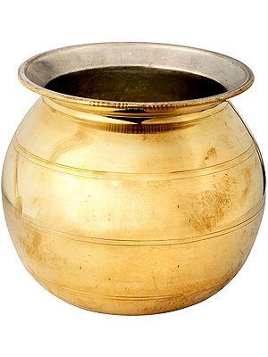 Special Brass Puja Kalash With Kalai Inside