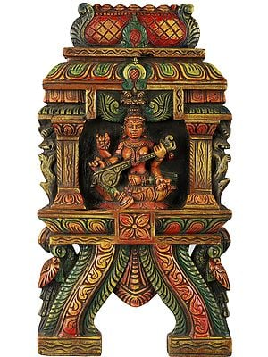 Devi Saraswati Wall Hanging