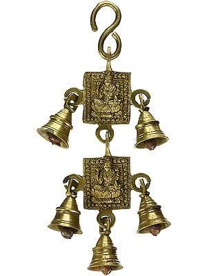Goddess Lakshmi Door Hanging with Bells