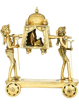 A Palanquin Carrying A Newlywed Bride