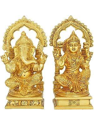 Two Auspicious Deities - Ganesha and Lakshmi