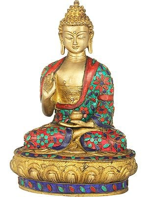 Tibetan Buddhist Deity Buddha in Preaching Gesture