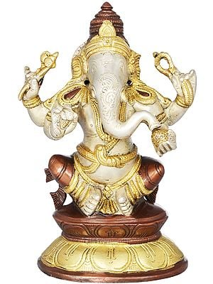 Ganesha on Double Lotus Base