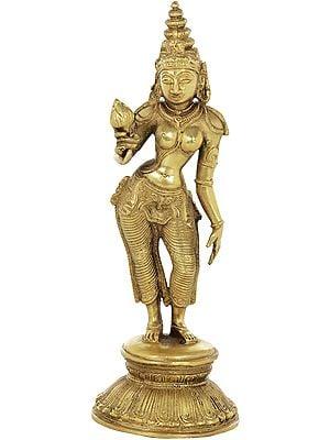 Goddess Parvati in the Triple Bent Posture