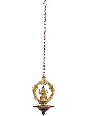 Goddess Lakshmi Roof Hanging Lamp