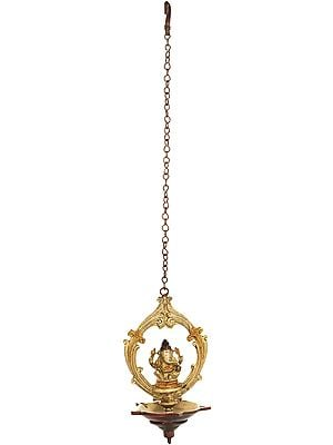 Lord Ganesha Roof Hanging Lamp