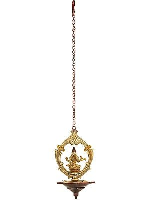 Goddess Saraswati Roof Hanging Lamp
