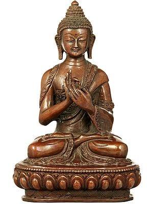 Lord Buddha in the Dharmachakra Mudra - Made in Nepal