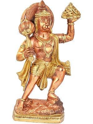 Lord Hanuman, Having Ripped Off The Mount Of Sansjeevani