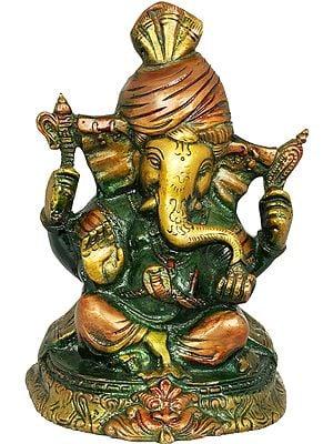 Lord  Ganesha Wearing a Turban