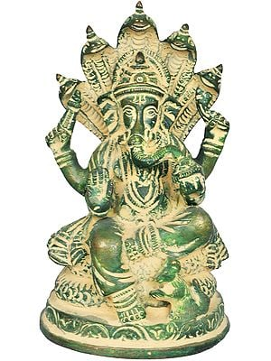Ganesha Seated on Sheshanaga (Small Sculpture)