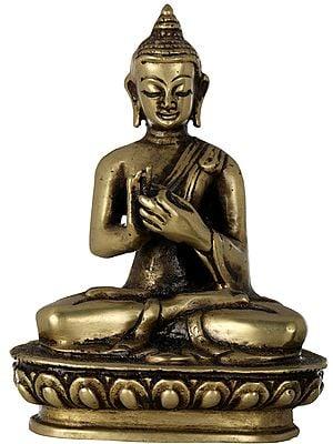 Tibetan Buddhist Lord Buddha in Dharmachakra Mudra- Made in Nepal